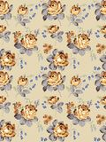 Pattern -002. Old vintage roses Seamless texture pattern Royalty Free Stock Image