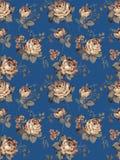 Pattern-003. Blue background rose seamless texture pattern Stock Image