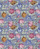 Pattern -004. Old vintage roses garden texture pattern Royalty Free Stock Photo