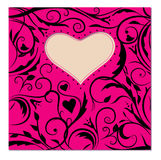Pattern. Heart in the patterns for Valentine's Day Stock Photography