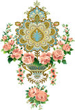Pattern. Vector illustration pattern with roses in a retro style Stock Photo