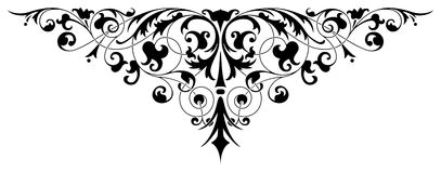 Pattern 13. Ornamental design, digital artwork stock illustration