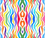 Abstract rainbow colored tentacles for background stock illustration