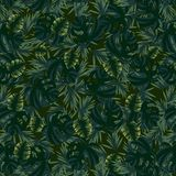 Pattern with leaves of different shapes royalty free illustration