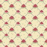 Pattern. seamless background. watermelon. Summer stock illustration