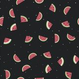 Pattern. seamless background. watermelon. Summer vector illustration