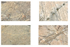 Pattern. Image of rock pattern in four types Royalty Free Stock Photography