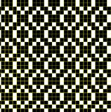 Pattern 20. Seamless black and white pattern with yellow lines vector illustration