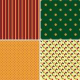 Pattern. Set of four patterns, vector illustration Stock Images
