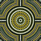 Pattern. A illustration based on aboriginal style of dot painting depicting pattern Stock Photos
