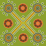 Pattern. A illustration based on aboriginal style of dot painting depicting Pattern Stock Photo