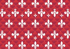 Pattern 3. Red background with Medici signs Royalty Free Stock Photography