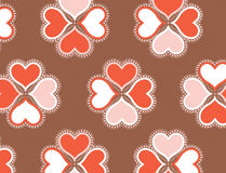 Pattern. Valentine pattern with hearts and detail as you get closer to the hearts. modern colors, but I am also uploading a illustrator vector file so you can Royalty Free Stock Photography