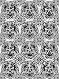 Pattern. Vector monochrome pattern on white background Stock Image