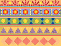 Pattern. Colored pattern, with geometric elements Royalty Free Stock Photo