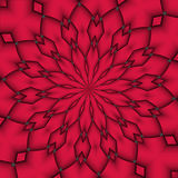 Pattern. Red abstract flower pattern royalty free illustration