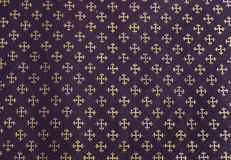 Pattern. Purple background with golden pattern Royalty Free Stock Image