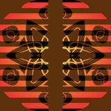 Pattern. Abstract pattern for an ornament of a congratulatory card Stock Photos