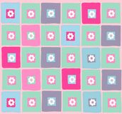 Pattern. Vector illustration of colourful pattern with flowers Royalty Free Stock Images