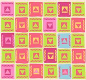 Pattern. Vector illustration of colourful pattern with geometric shapes Stock Image