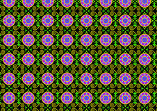Green pattern with purple circles. An illustration of an abstract green pattern with purple circles Stock Photography