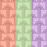 Pattern with abstract architectural forms. Vector seamless pattern royalty free illustration