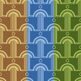 Pattern with abstract architectural forms. Vector seamless pattern for textile, prints, wallpaper, wrapping paper, web decor etc royalty free illustration