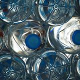 Pattern abstract background of Plastic bottle`s pure water close stock images