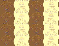 Pattern with abstract birds Royalty Free Stock Photography