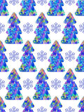 Pattern with abstract christmas trees Stock Photos