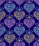 Pattern with abstract colorful hearts Royalty Free Stock Photos