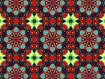 Pattern with abstract decorative mosaic ornament Stock Photography