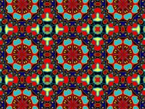 Pattern with abstract decorative mosaic ornament royalty free stock photography