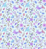 Pattern with abstract flowers Royalty Free Stock Image