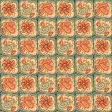 Pattern with abstract flowers and leaves Royalty Free Stock Photos