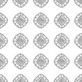 Pattern with abstract flowers Stock Photo