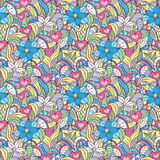 Pattern with abstract flowers Royalty Free Stock Photography