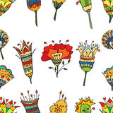 Pattern with abstract flowers Stock Photography