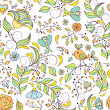 Pattern with abstract flowers Royalty Free Stock Photo