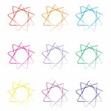 Pattern. Abstract geometric pattern, abstract geometric form Royalty Free Stock Images