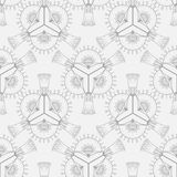 Pattern of abstract geometric elements. Seamless pattern of abstract geometric elements in graphic style stock illustration