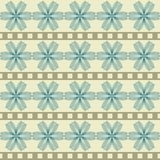 Pattern with abstract geometric flowers Stock Images