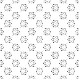 Pattern Abstract Geometric wallpaper. Vector illustration. backg. Round. black. on white background Stock Photography