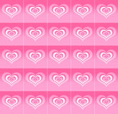 Pattern of abstract hearts Royalty Free Stock Photos