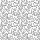 Pattern with abstract  leaf . Coloring book page Royalty Free Stock Images