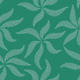 Pattern with abstract leafs Stock Image