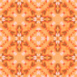 Pattern 3-31. Abstract seamless pattern with geometric and floral ornaments, ethnic,  boho style. Tile repeat. Autumn motive Royalty Free Stock Photos