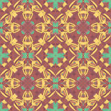 Pattern. Abstract seamless pattern with geometric and floral ornaments, tribal, boho style Stock Image
