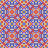 Pattern. Abstract seamless pattern with geometric and floral ornaments, tribal, boho style. Tile repeat Stock Image