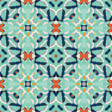 Pattern. Abstract seamless pattern with geometric and floral ornaments, tribal, ethnic, national, creative, boho style. Tile repeat Stock Photo